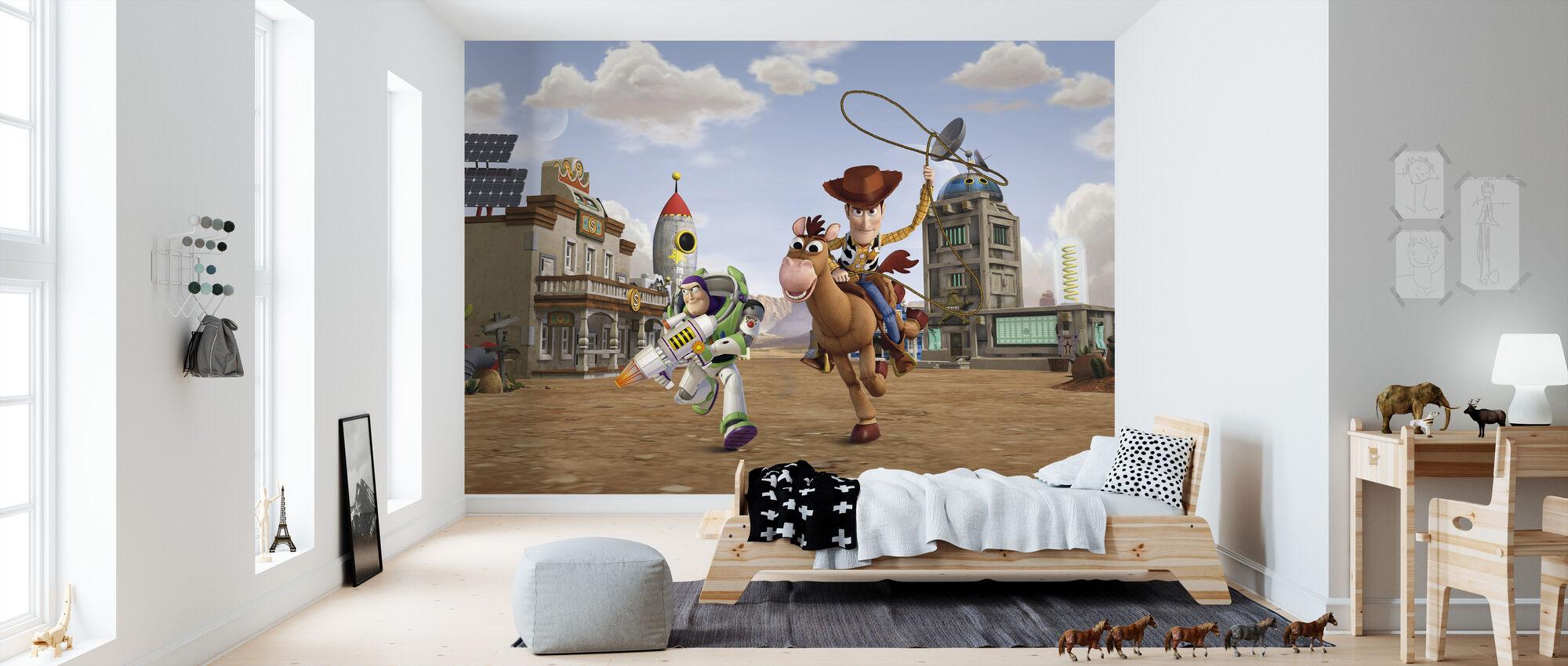 Toy Story - Bullseye Woody Buzz Lightyear - Tapet - Barnerom
