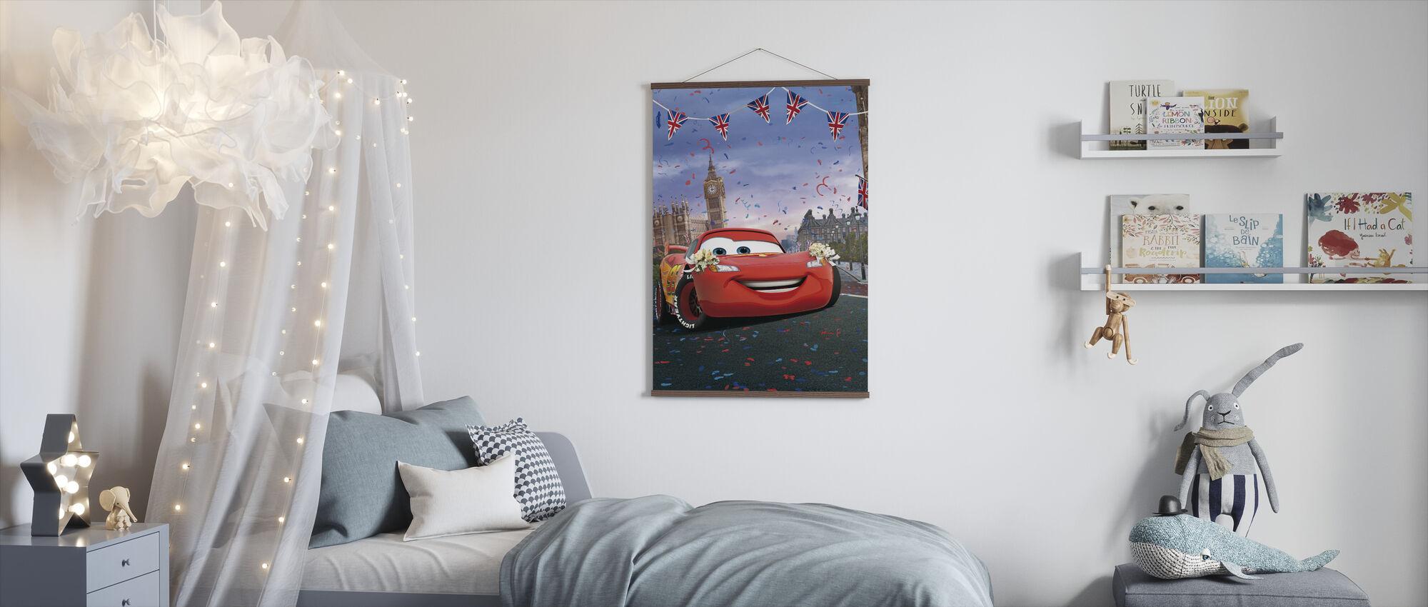 Biler - Lynet McQueen - London - Plakat - Barnerom