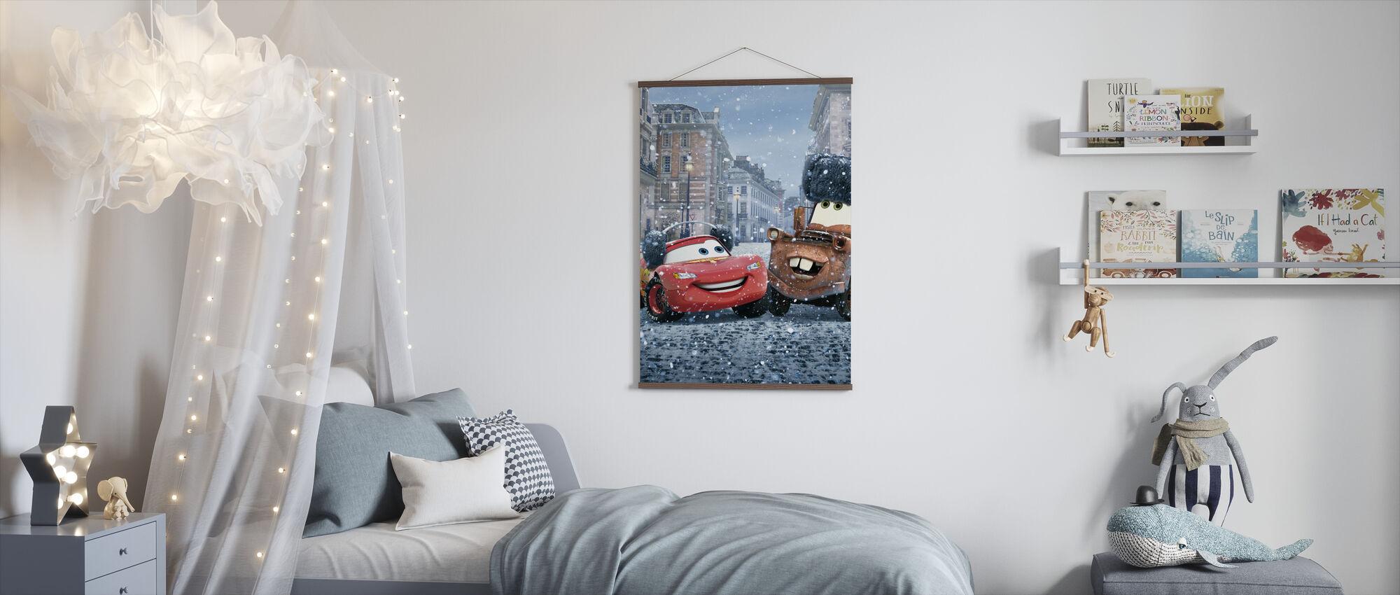 Biler - Lynet McQueen Mater - Plakat - Barnerom