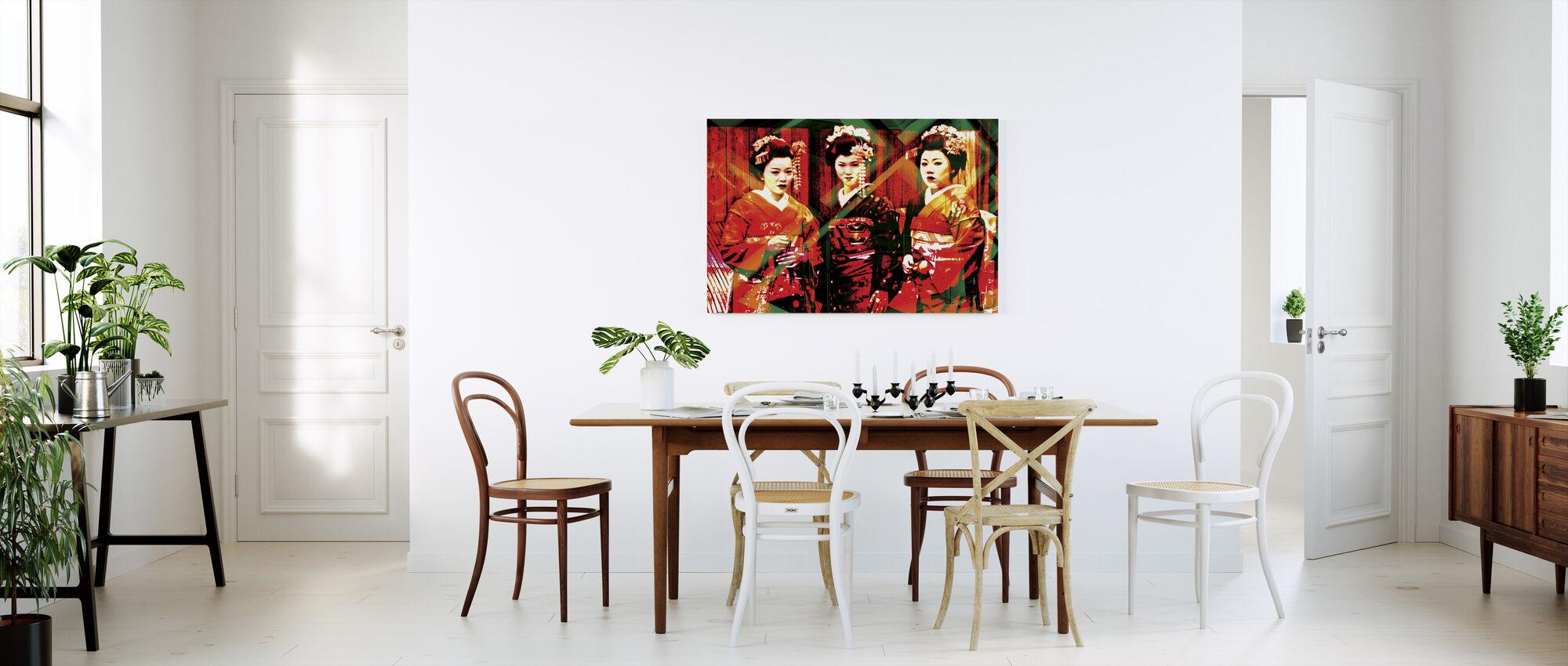 Geisha tijd - Canvas print - Keuken