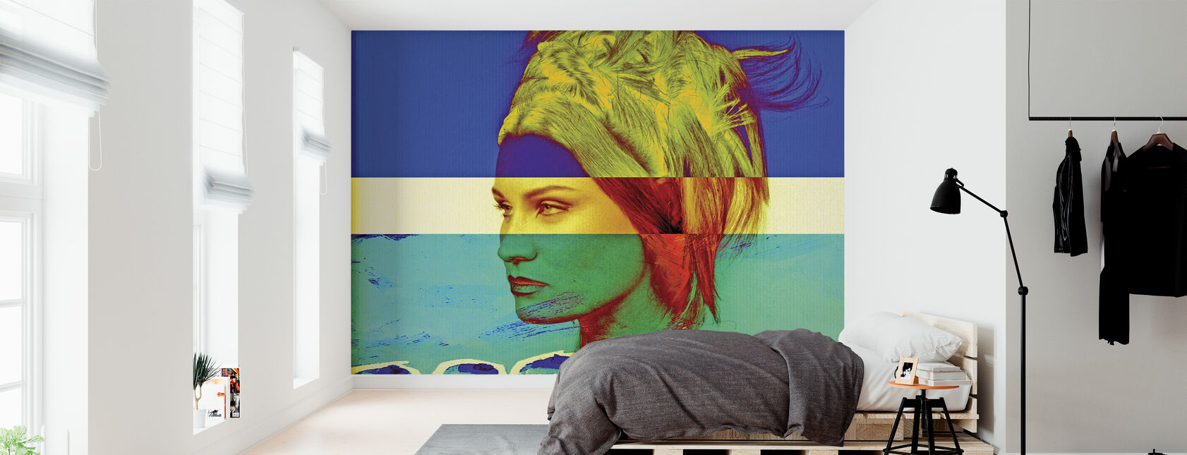 Svensk flag - Tapet - Soveværelse