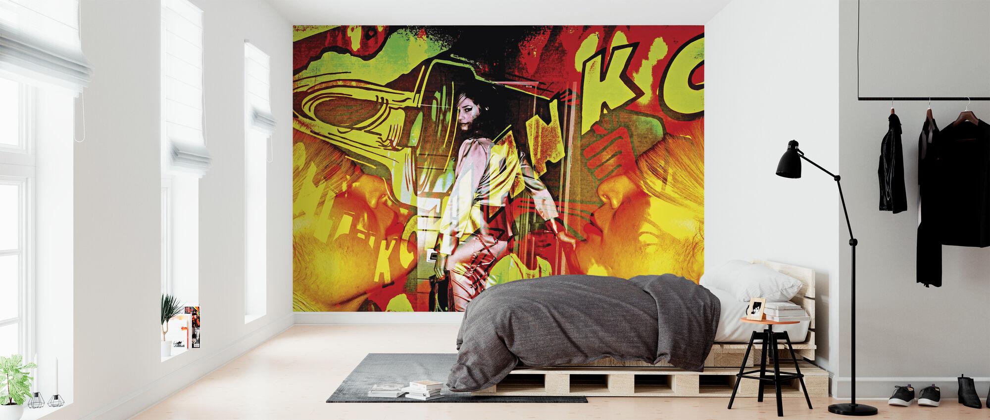 Graffitti Wall - Tapet - Soveværelse