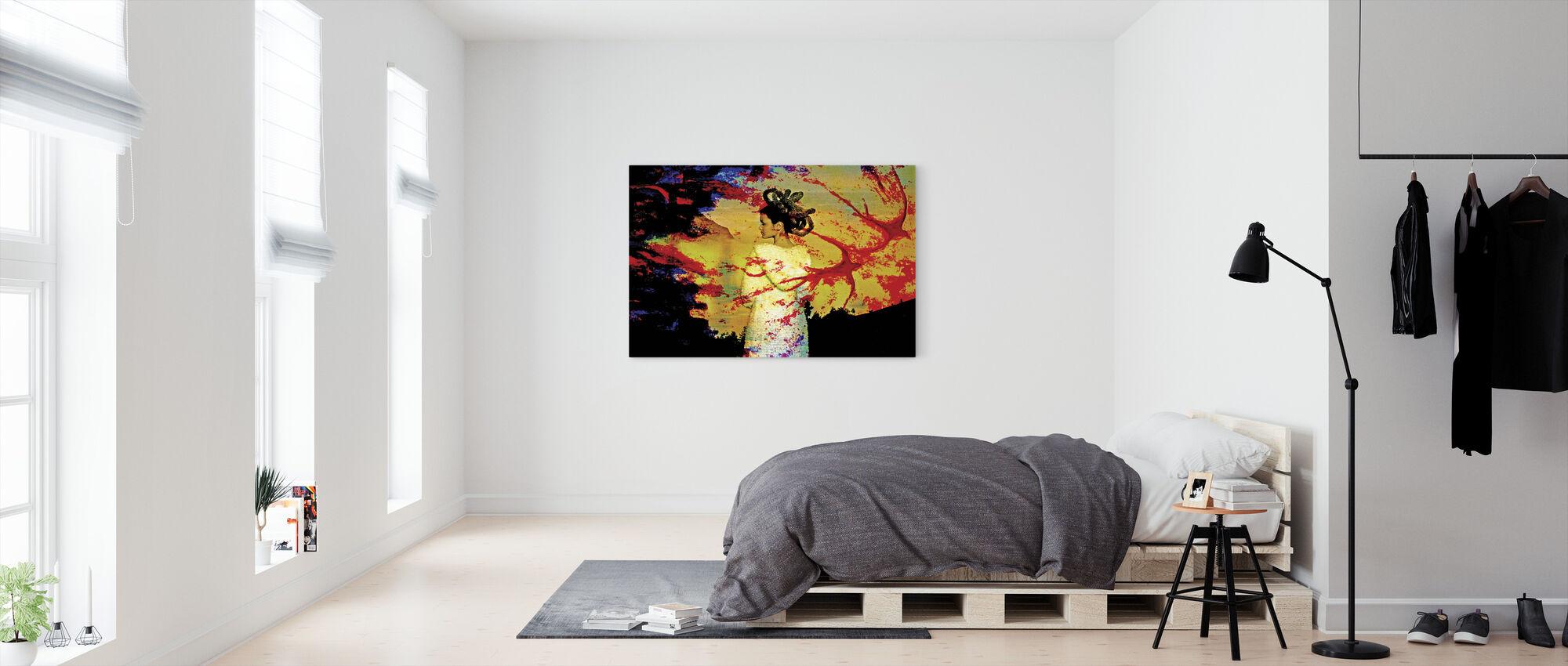 Red Bird - Canvas print - Bedroom