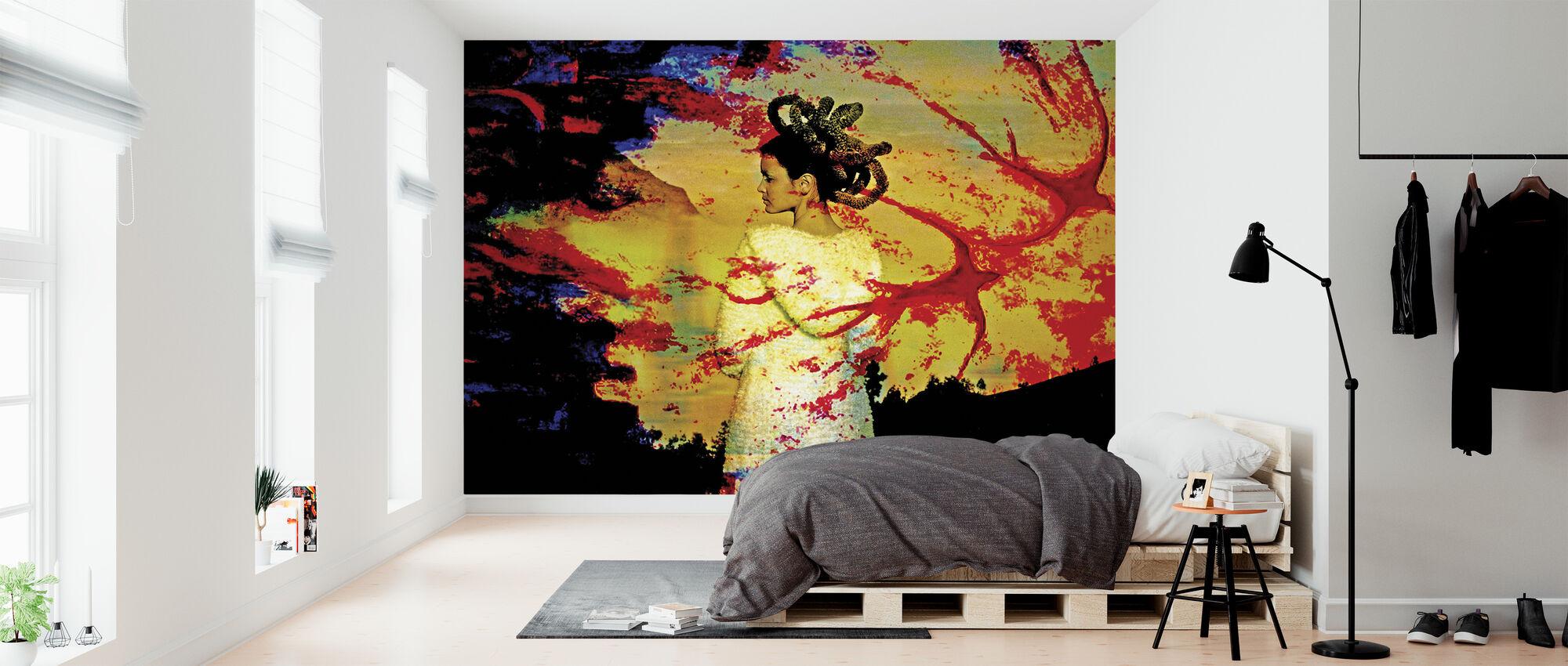 Red Bird - Wallpaper - Bedroom
