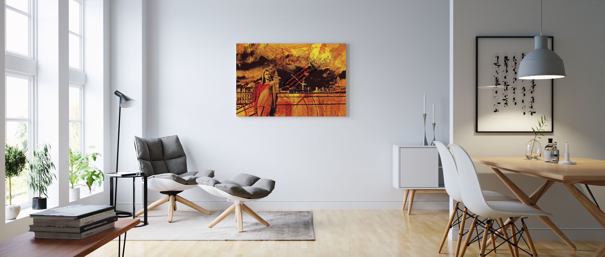 Lonely City - Canvas print - Living Room