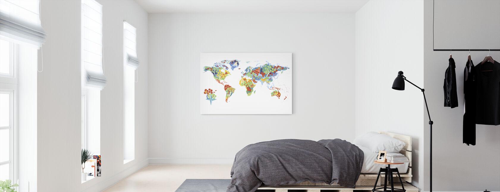 Underbar värld - Canvastavla - Sovrum