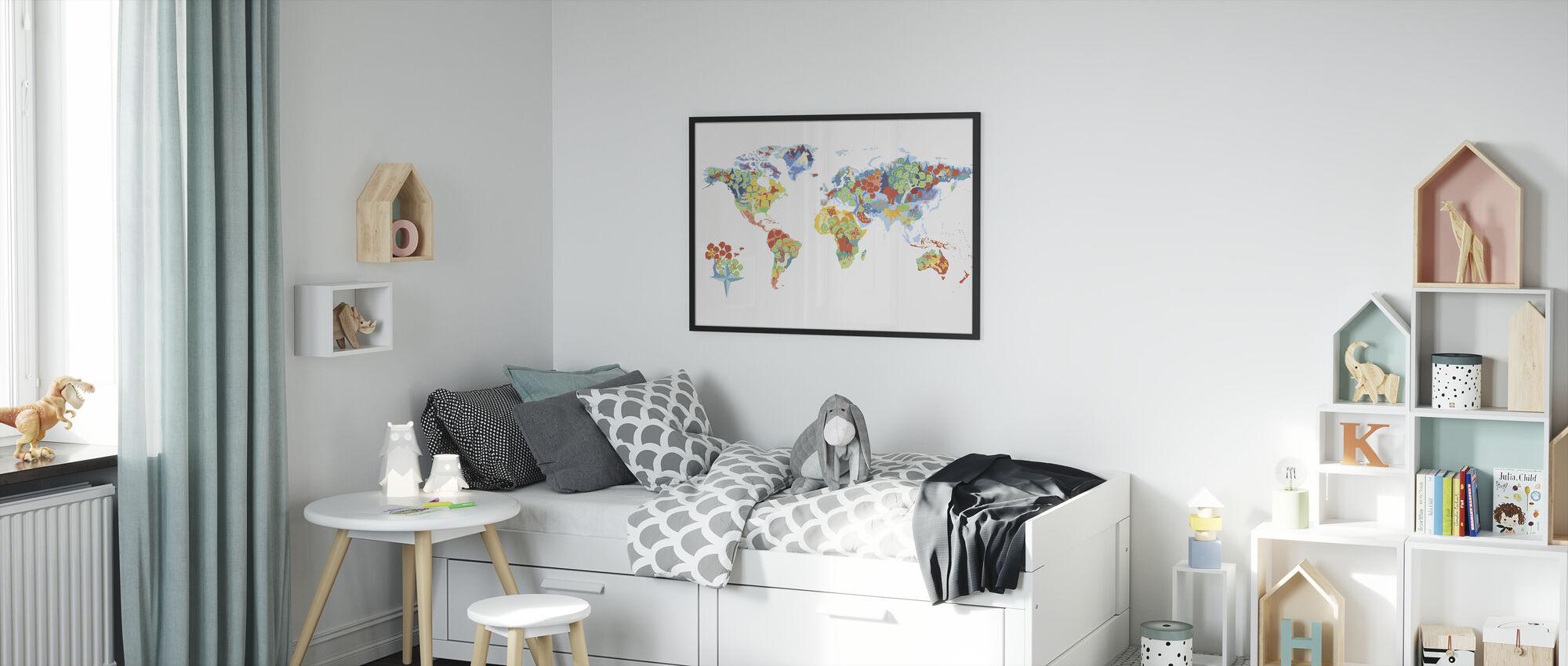 Fantastisk verden - Innrammet bilde - Barnerom