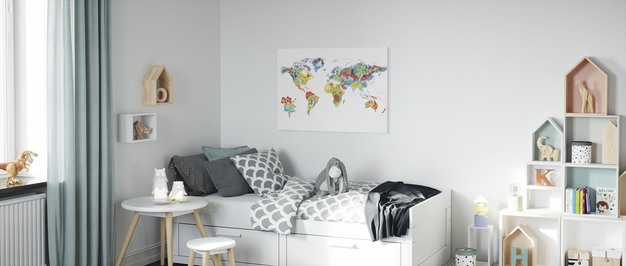 Wonderful World - Canvas print - Kids Room