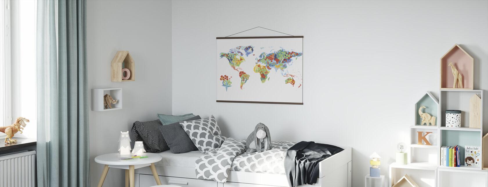Wunderbare Welt - Poster - Kinderzimmer