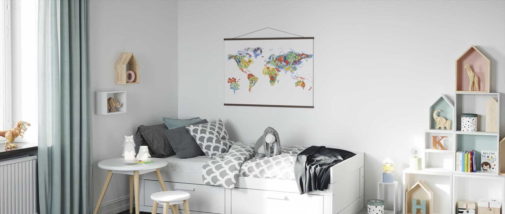 Wonderbaarlijke wereld - Poster - Kinderkamer