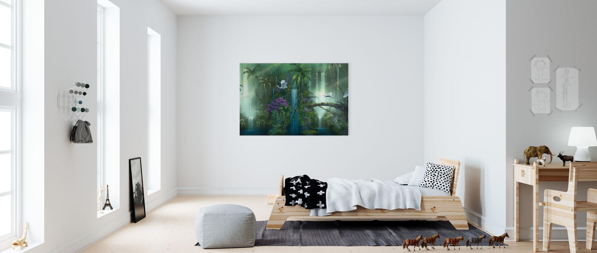 Vesiputous fantasia - Canvastaulu - Lastenhuone