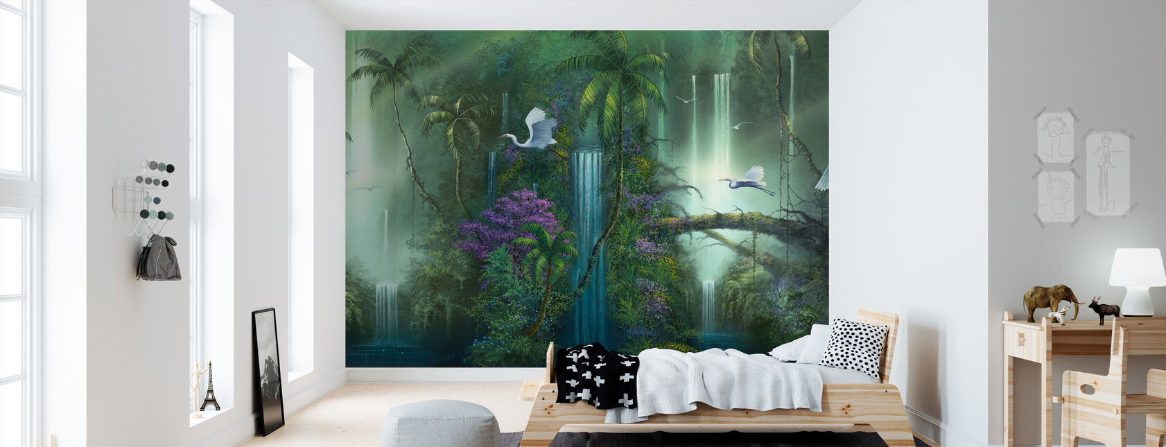 Waterfall Fantasy - Wallpaper - Kids Room