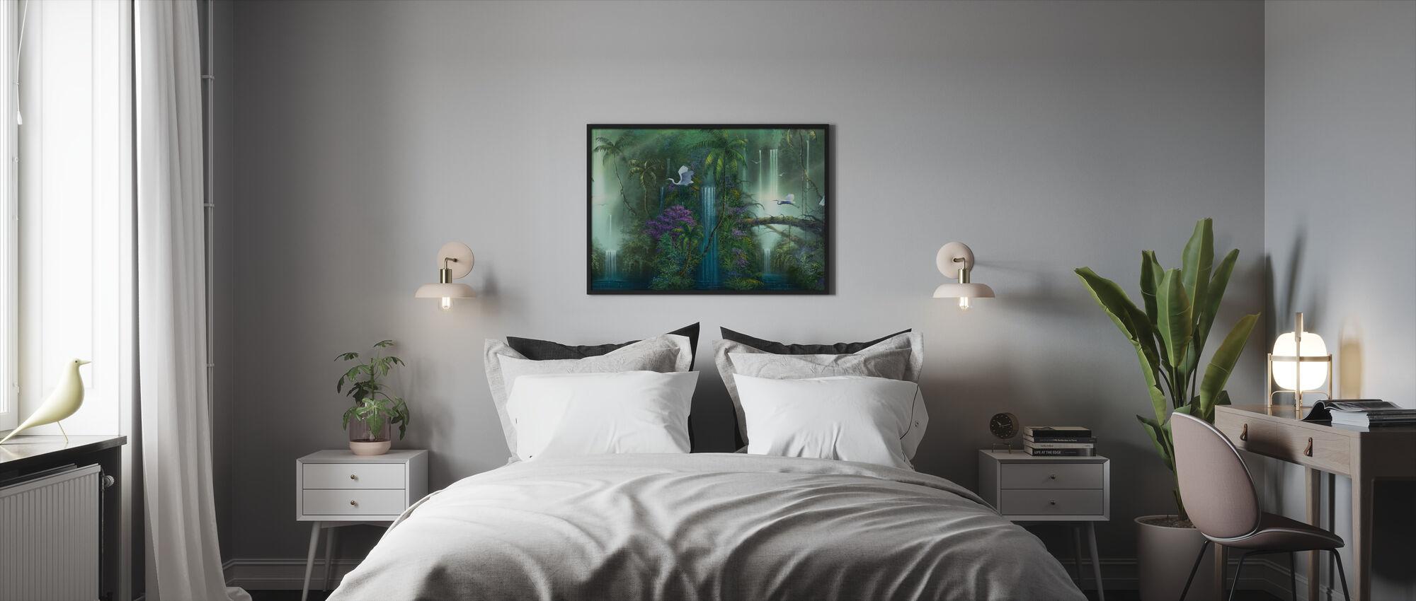 Waterfall Fantasy - Framed print - Bedroom