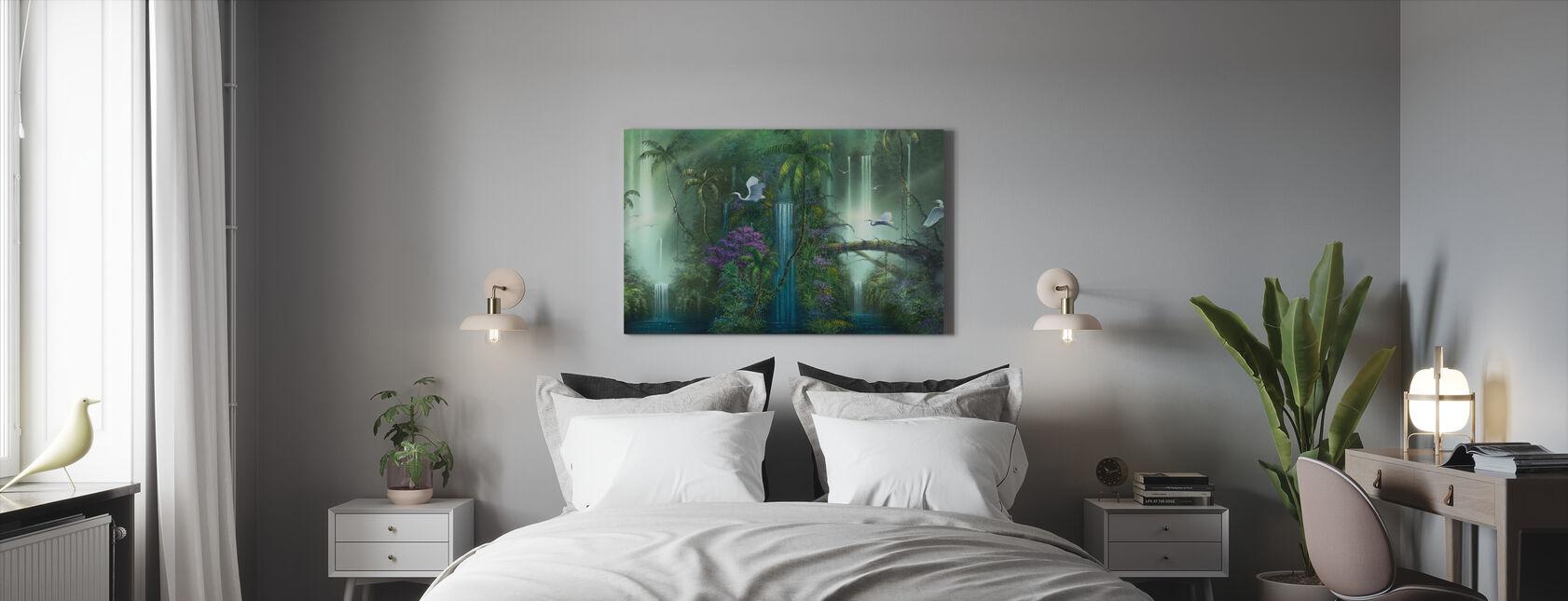 Vesiputous fantasia - Canvastaulu - Makuuhuone