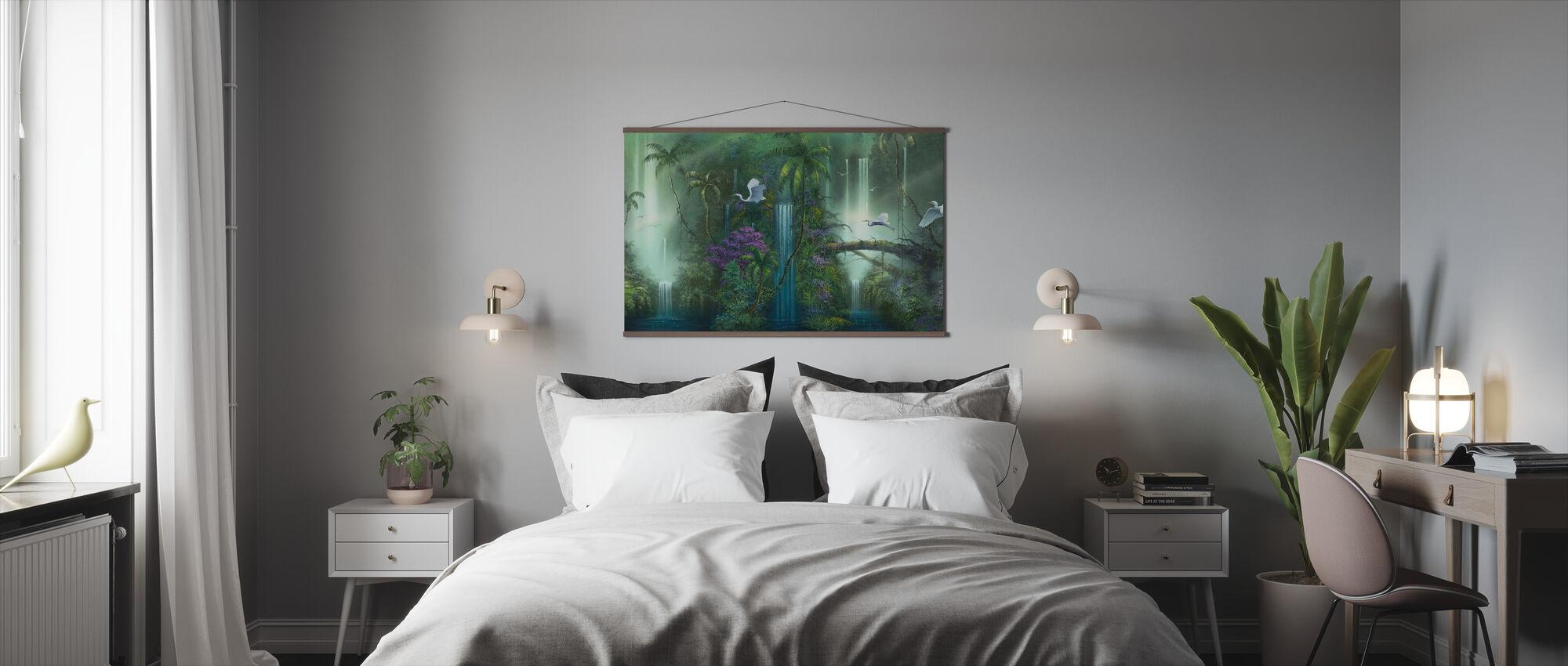 Vesiputous fantasia - Juliste - Makuuhuone