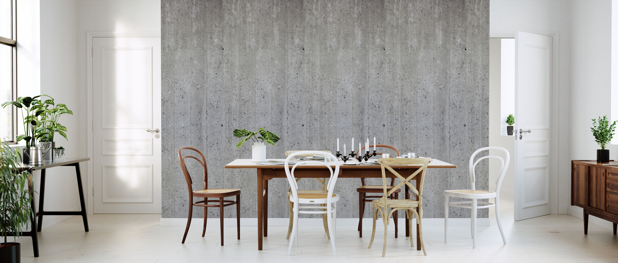 Concrete Wall - Wallpaper - Kitchen