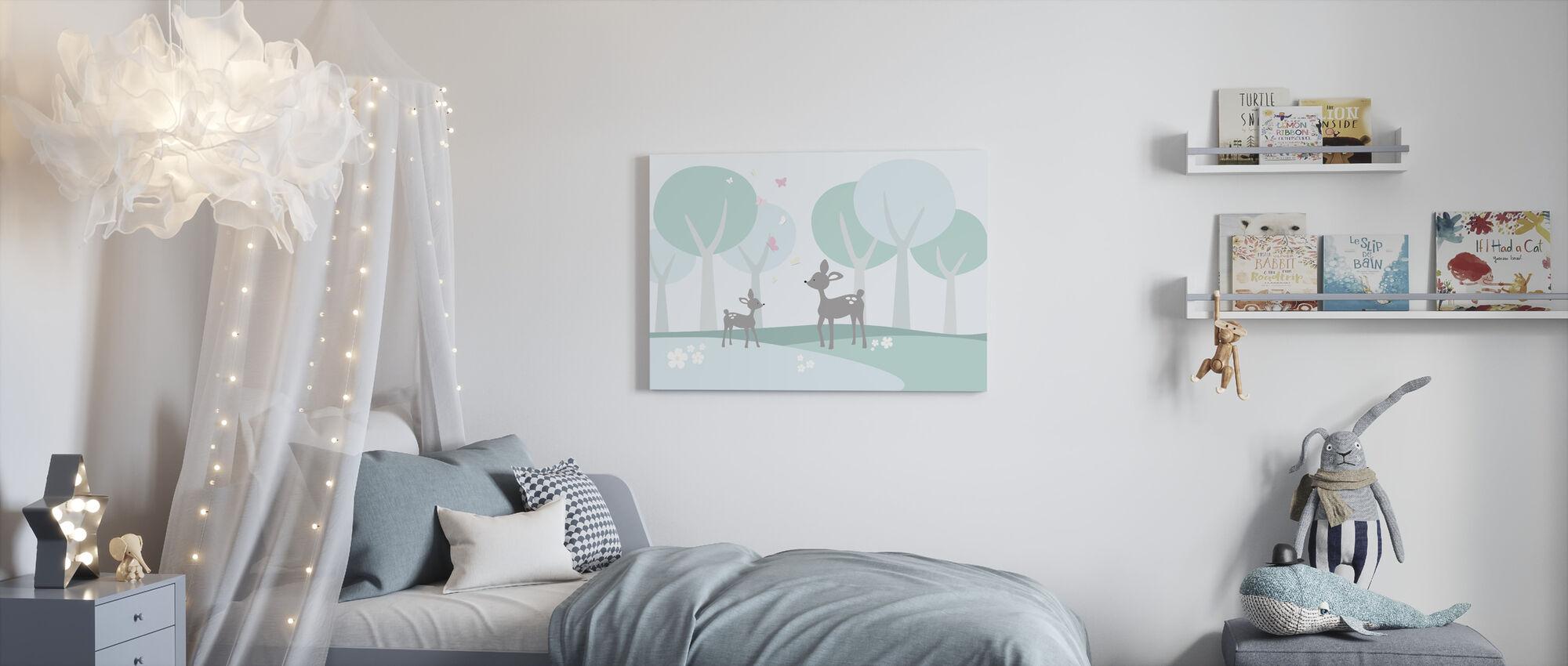 Deer in Woods - Canvas print - Kids Room