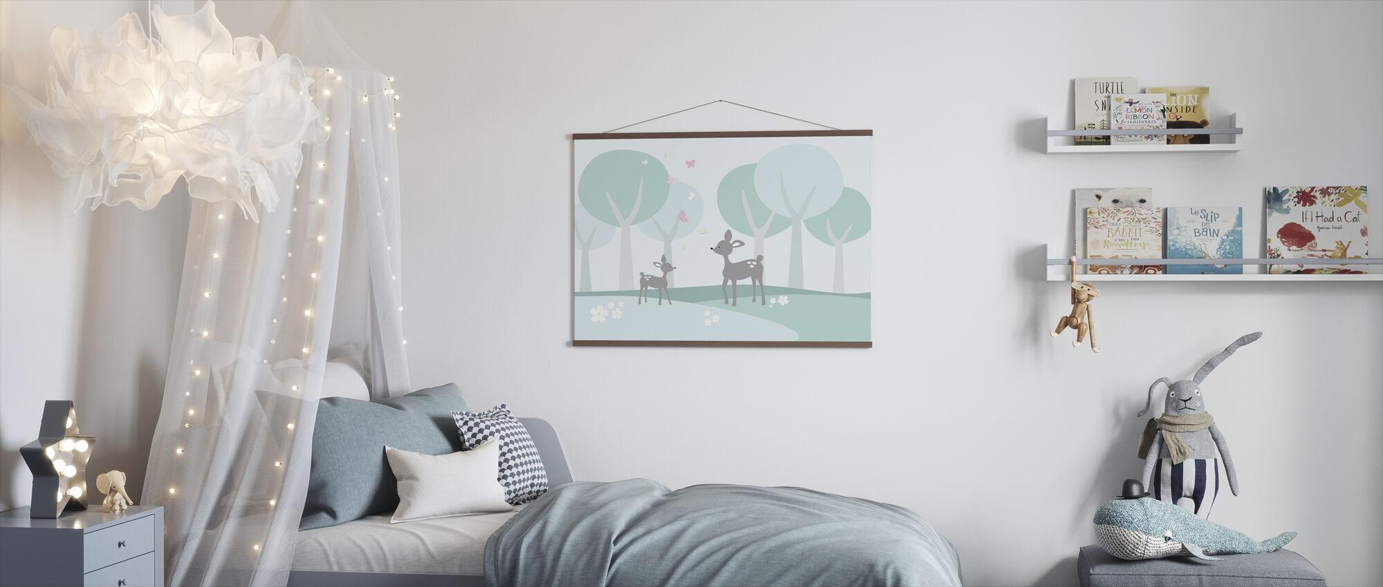 Hjort i Skogen - Plakat - Barnerom