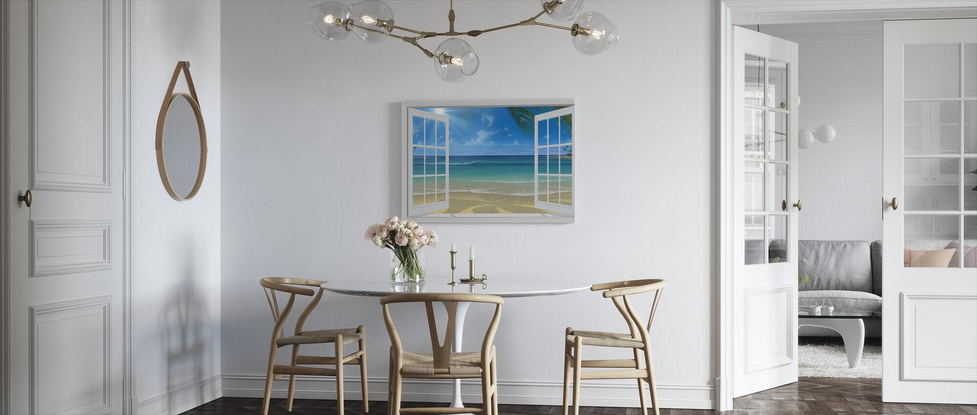 Solsken genom fönster - Canvastavla - Kök
