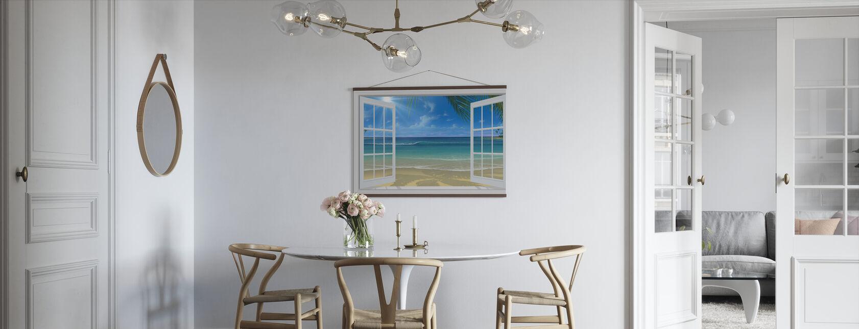 Auringonpaiste ikkunan läpi - Juliste - Keittiö