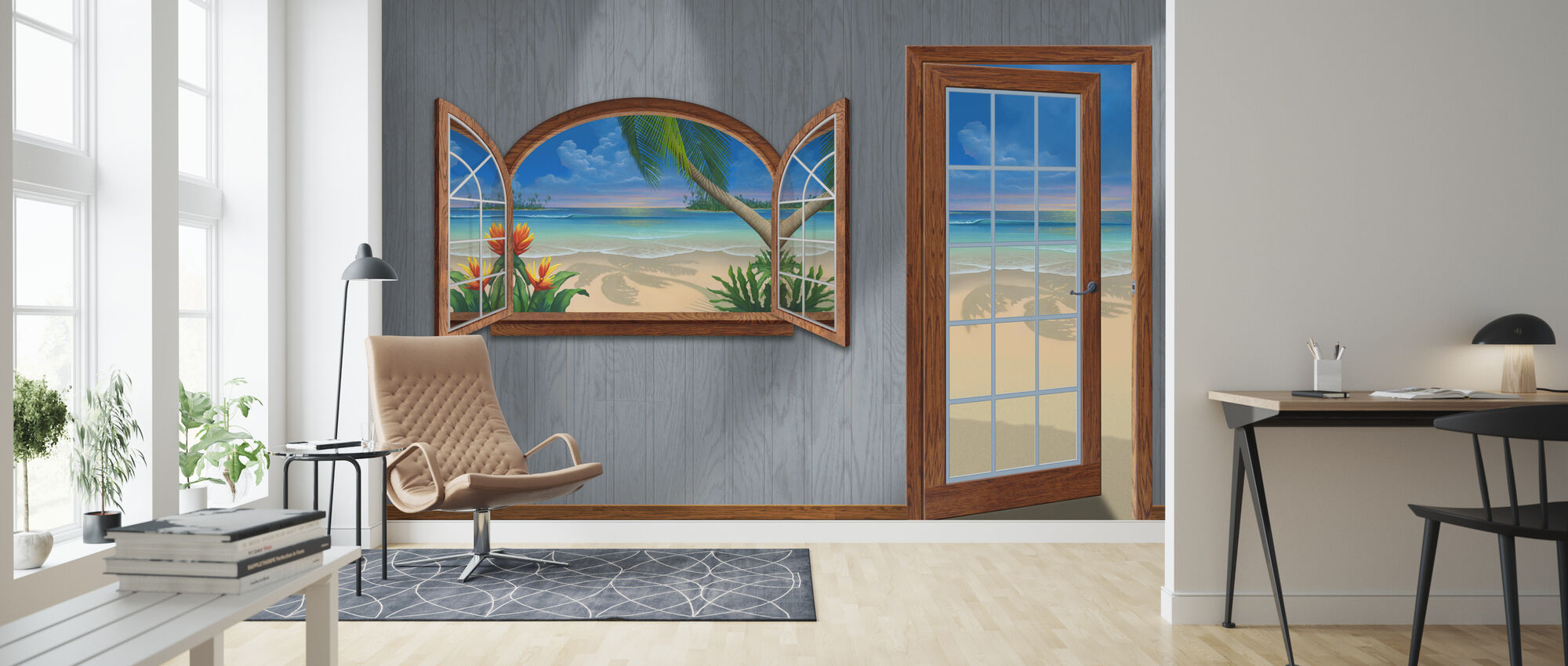 View of Paradise-Beachwood - Wallpaper - Living Room