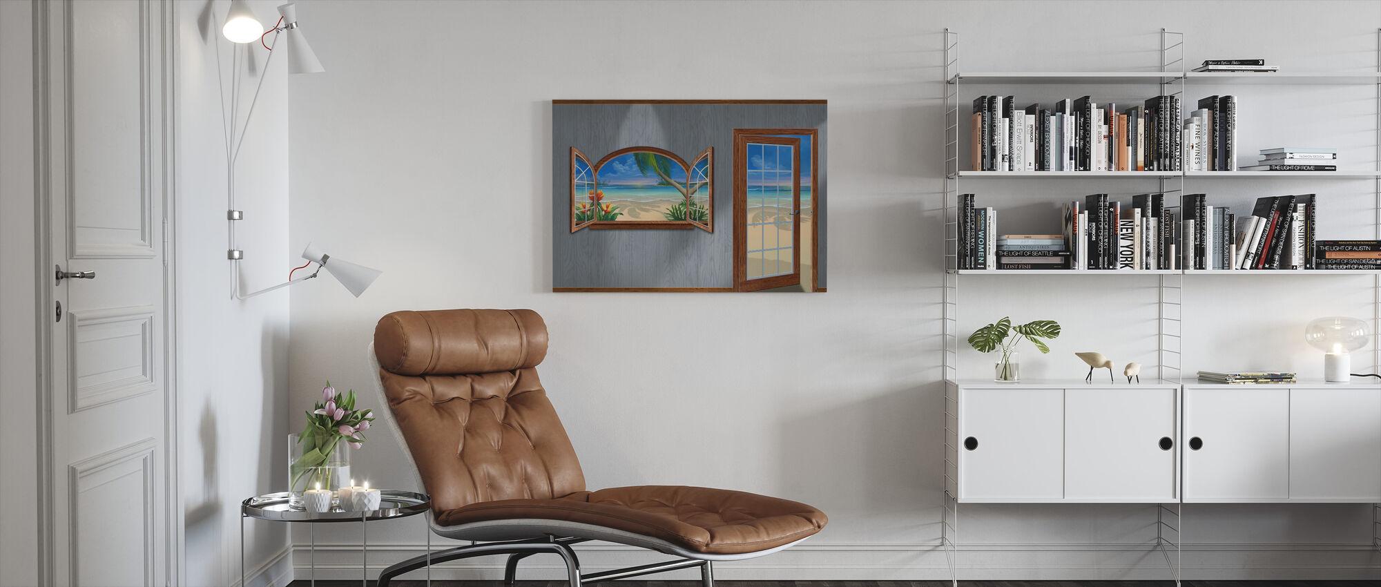 View of Paradise-Beachwood - Canvas print - Living Room