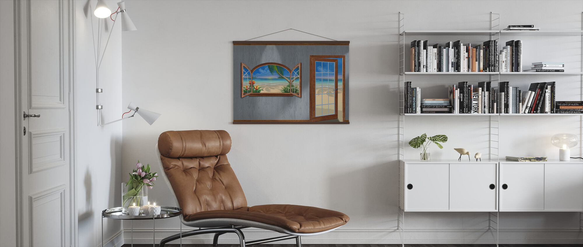 View of Paradise-Beachwood - Poster - Living Room