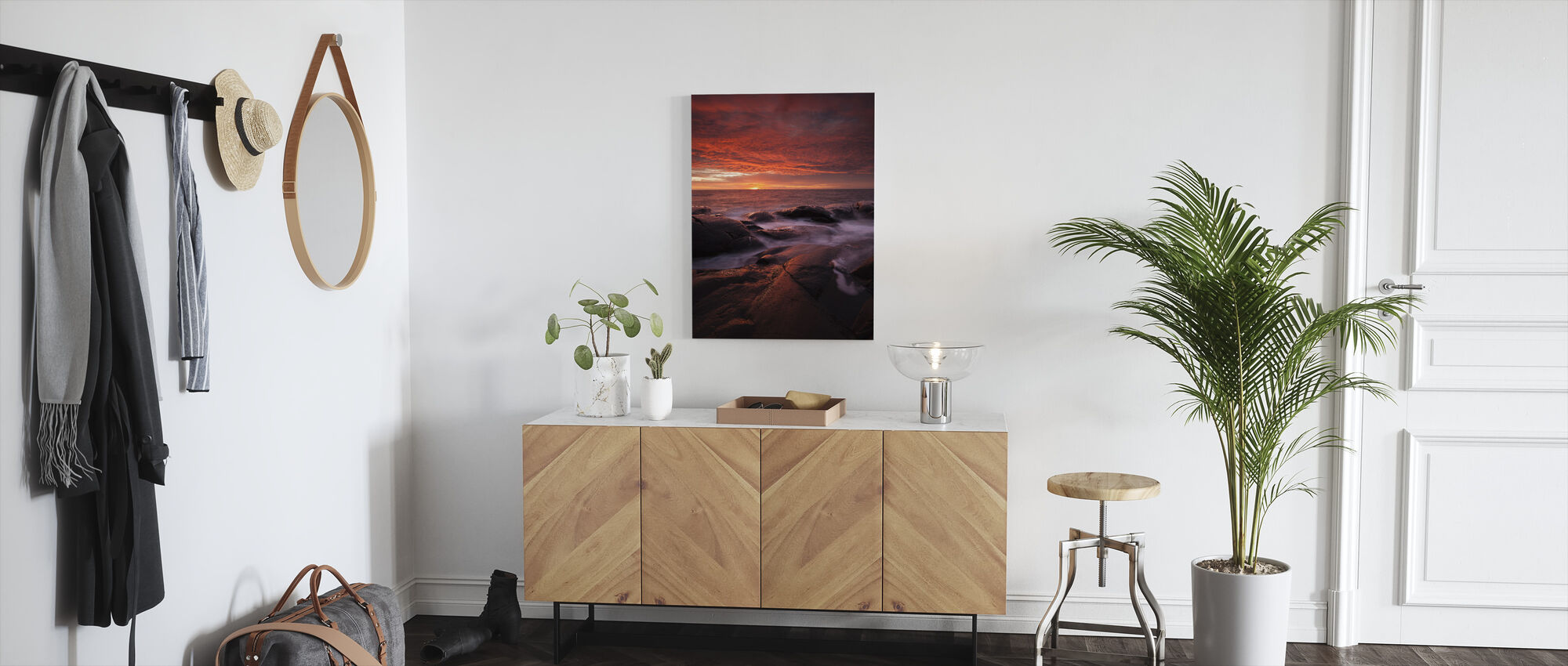Ondergedompeld in de zon - Canvas print - Gang