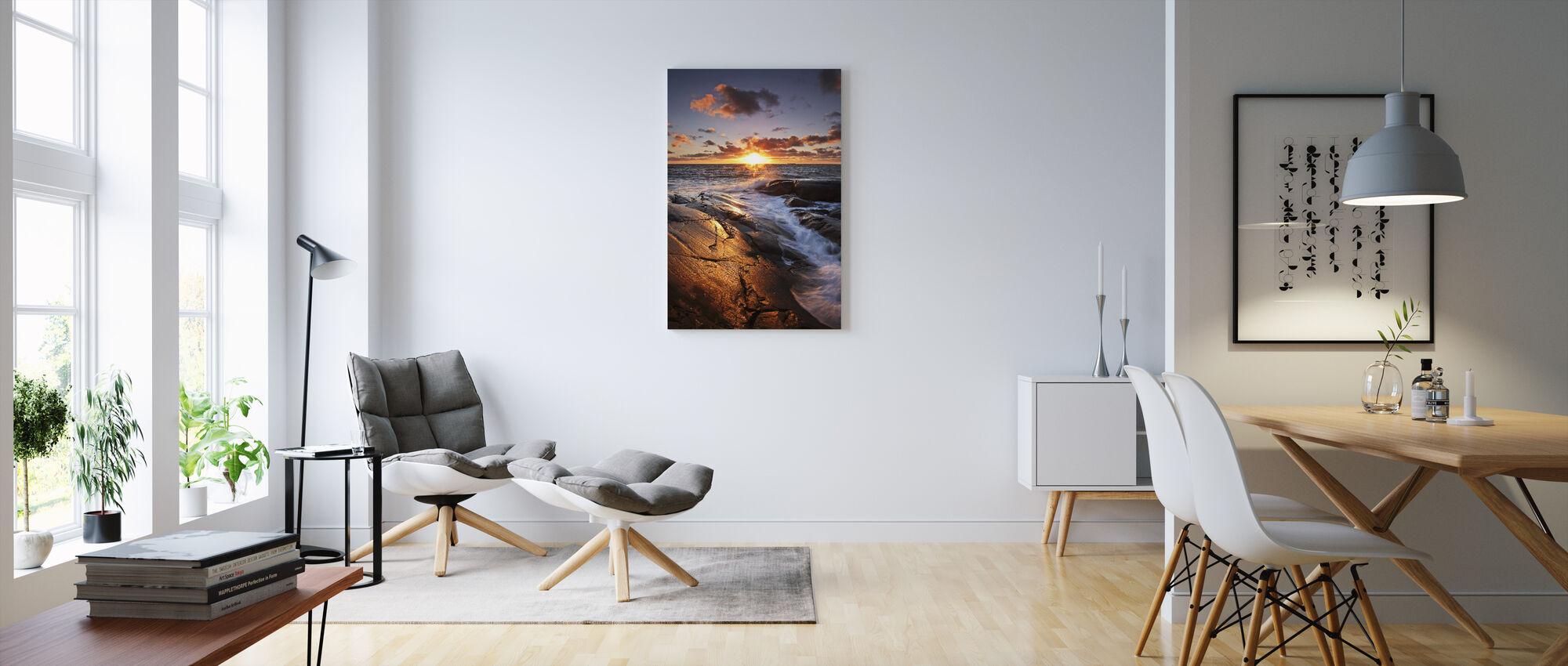 The Golden Rock - Canvas print - Living Room