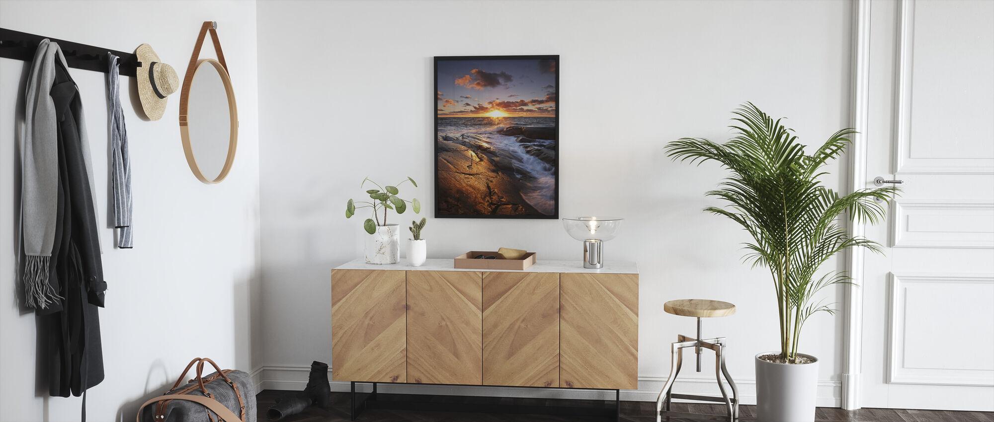 The Golden Rock - Framed print - Hallway