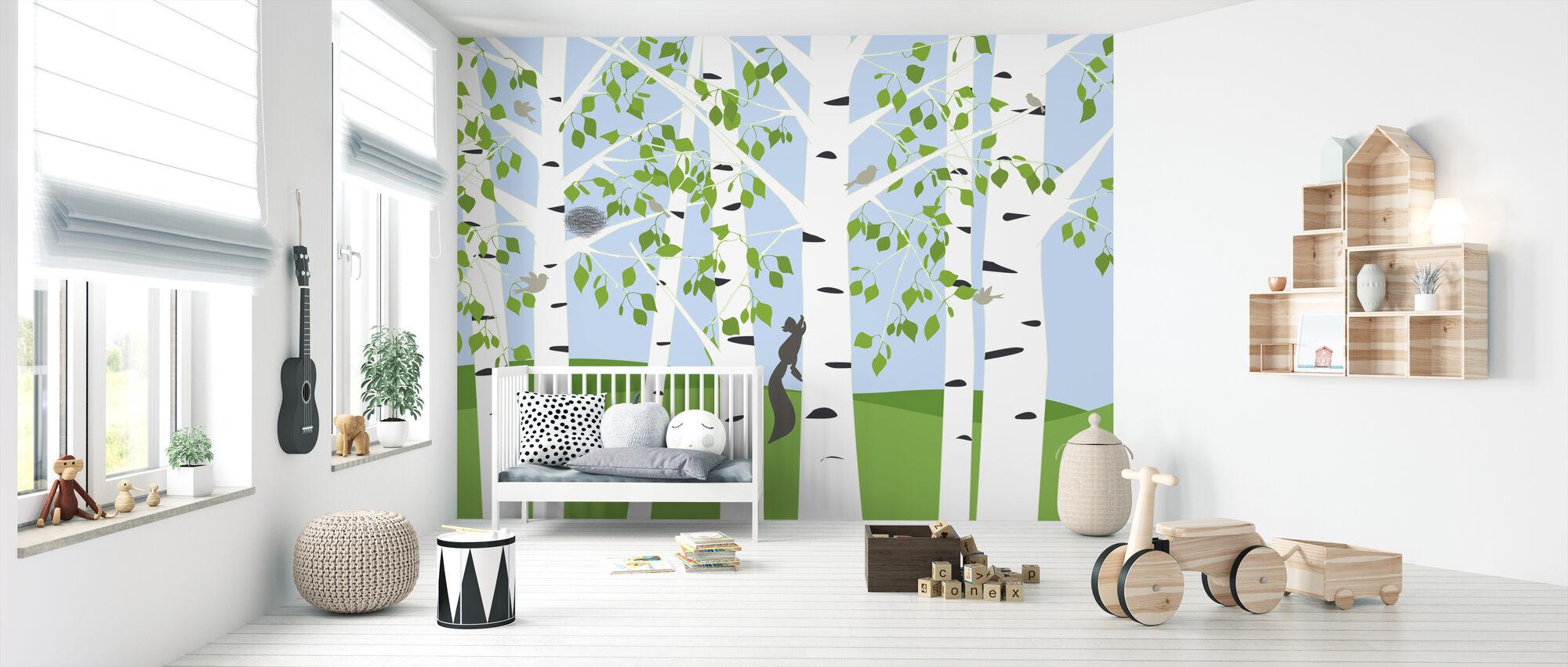 Birk Forest Forår - Tapet - Babyværelse