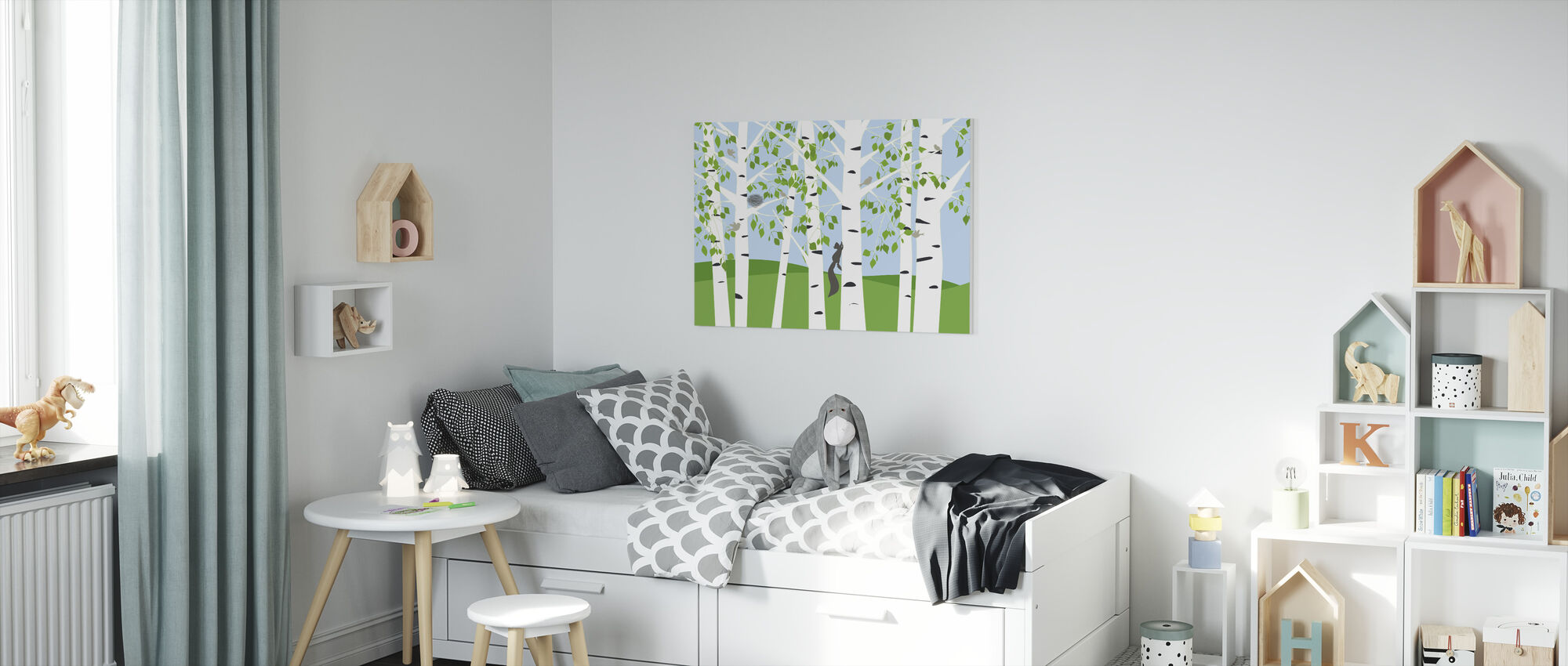 Birch Forest Spring - Canvas print - Kids Room