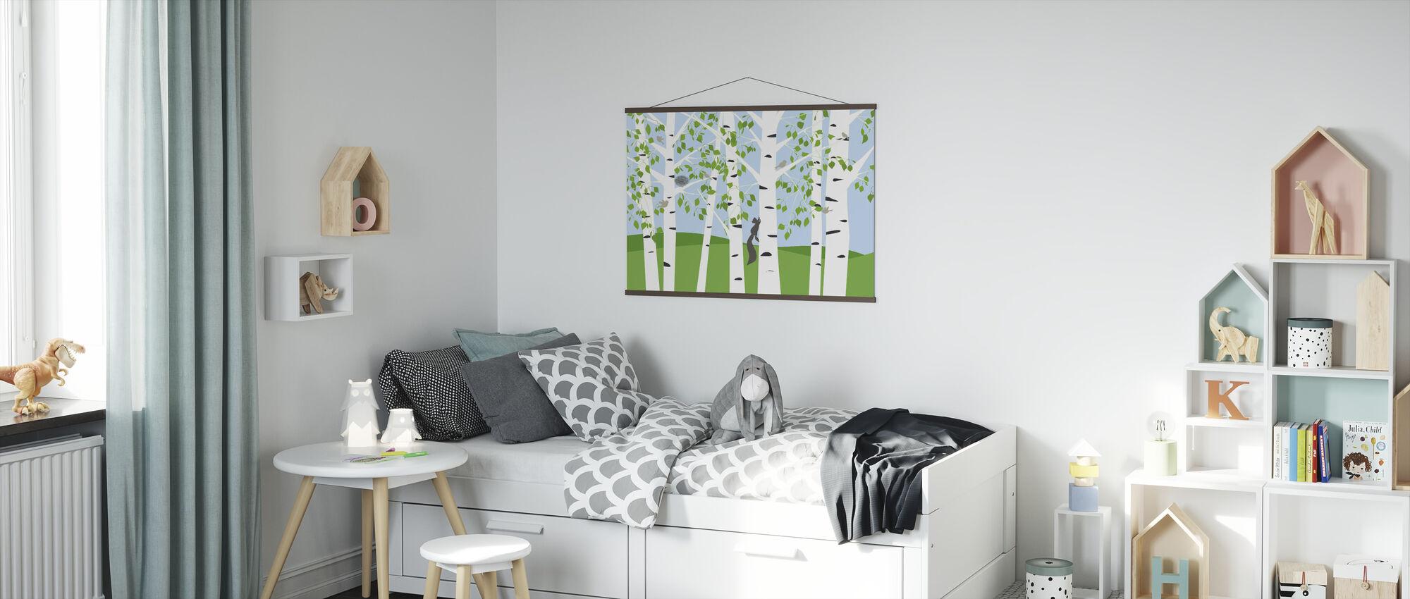 Birch Forest Spring - Poster - Kids Room