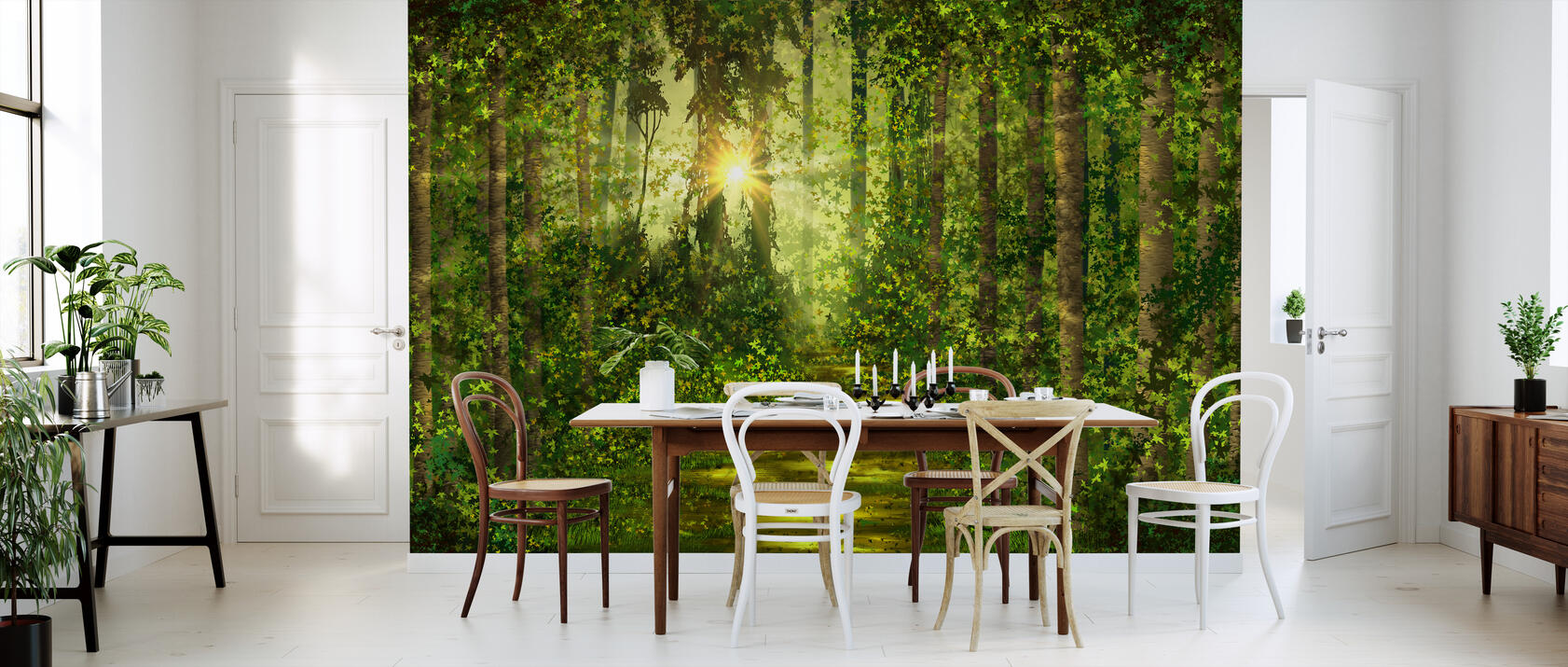 forest trails fototapete nach ma photowall. Black Bedroom Furniture Sets. Home Design Ideas