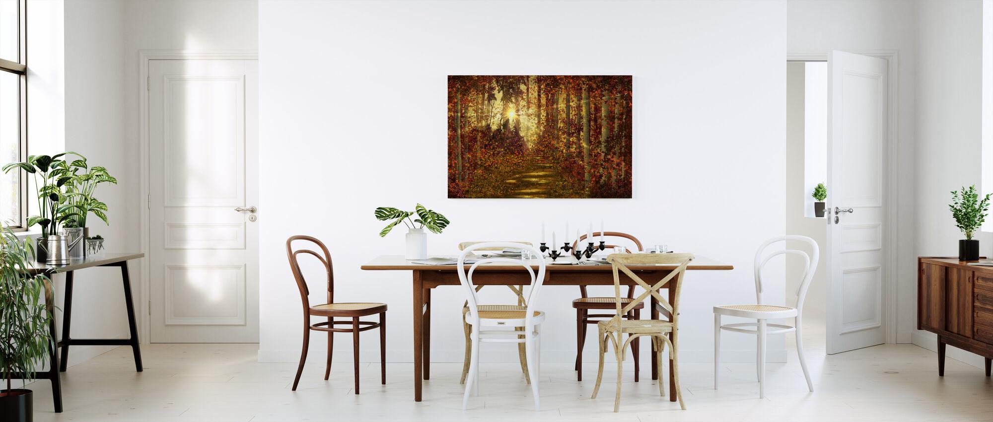 Metsäpolkuja - Canvastaulu - Keittiö