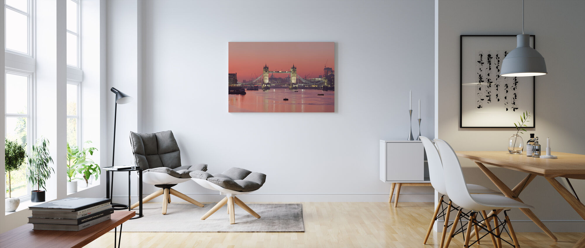London Skyline i Sunset - Canvastavla - Vardagsrum