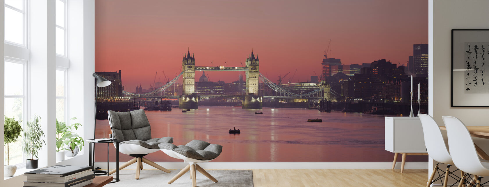 London Skyline en Sunset - Tapet - Stue