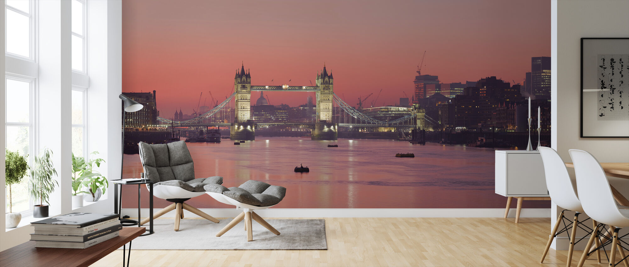 London Skyline in Sunset - Wallpaper - Living Room