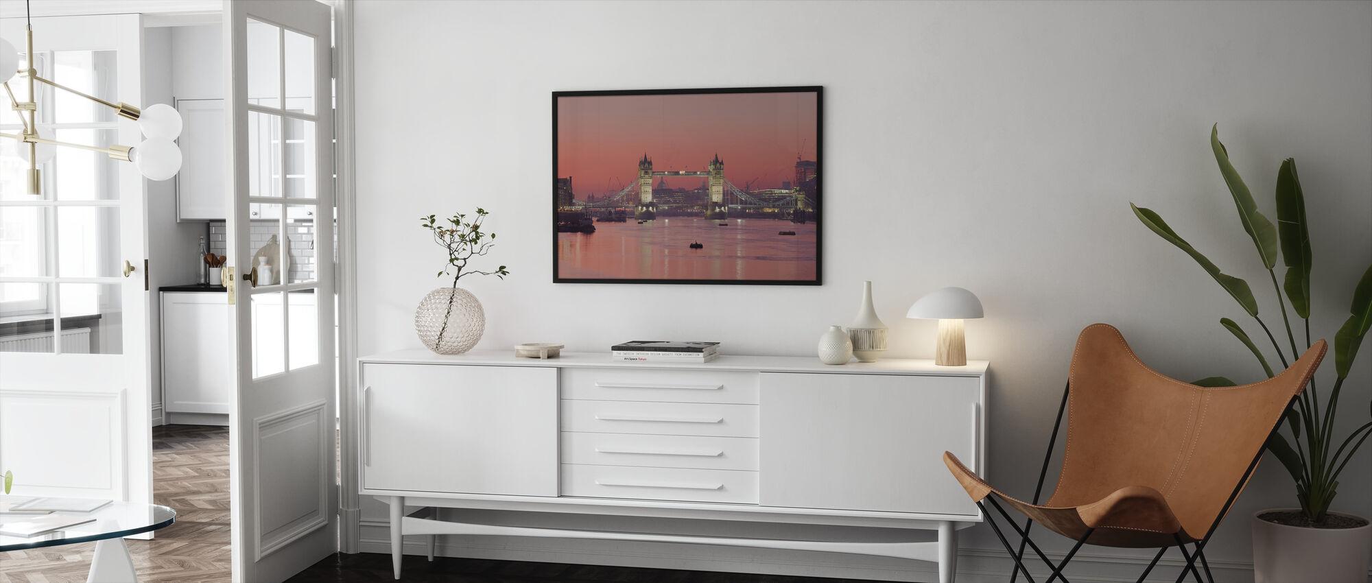 London Skyline in Sunset - Framed print - Living Room