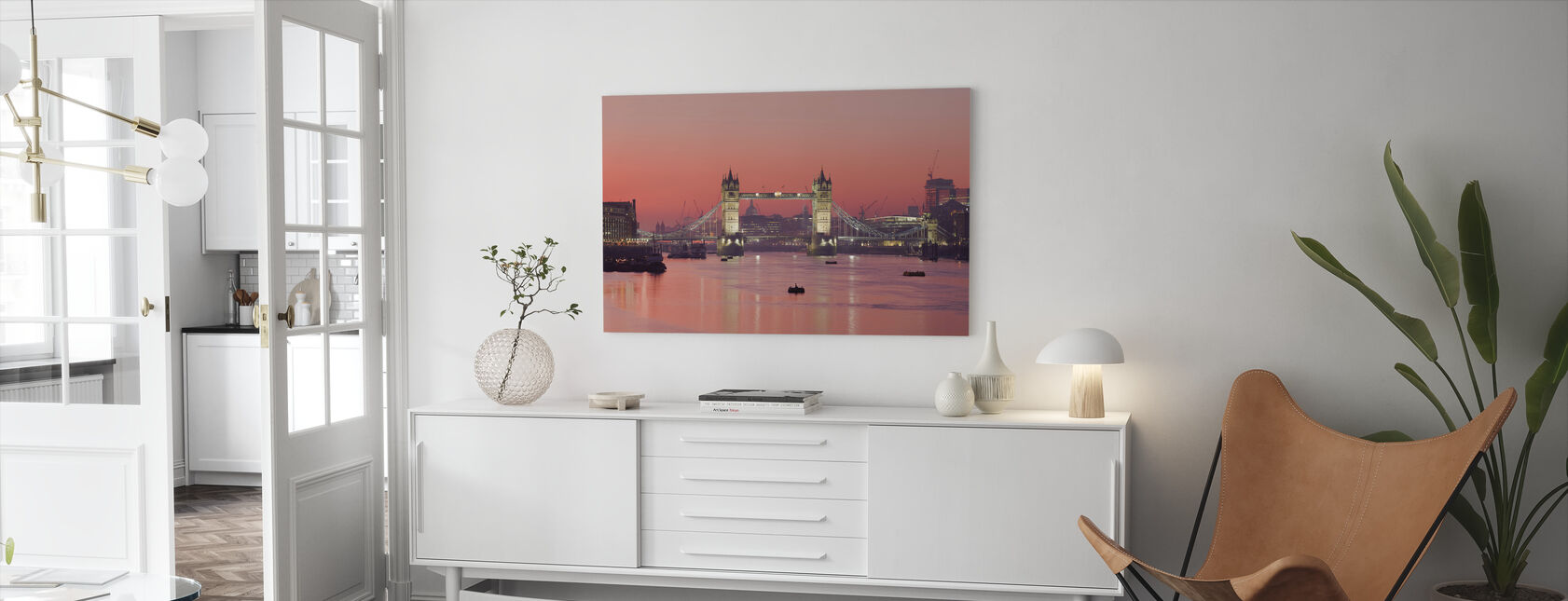 London Skyline in Sunset - Canvas print - Living Room