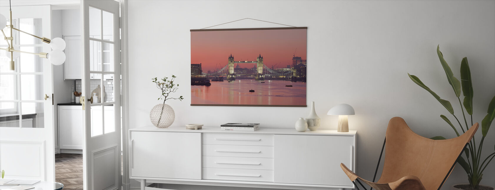 London Skyline in Sunset - Poster - Living Room