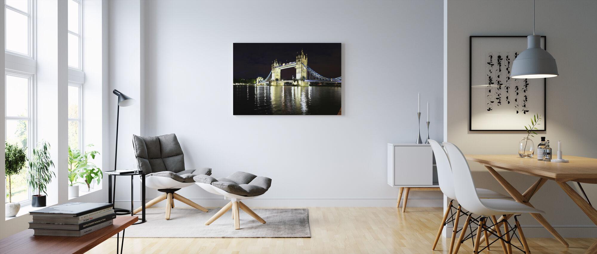 London Tower Bridge at Night - Canvas print - Living Room