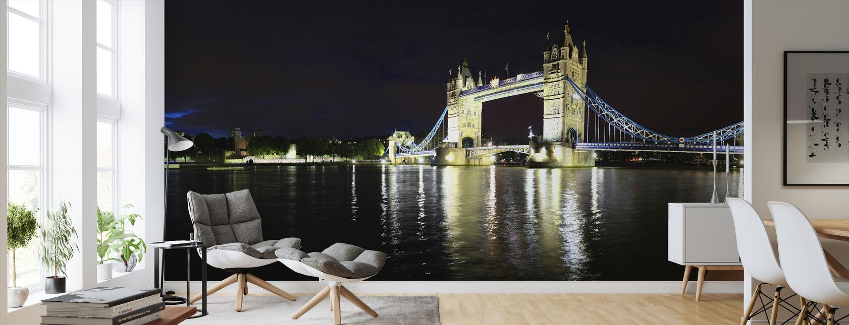 London Tower Bridge at Night - Wallpaper - Living Room