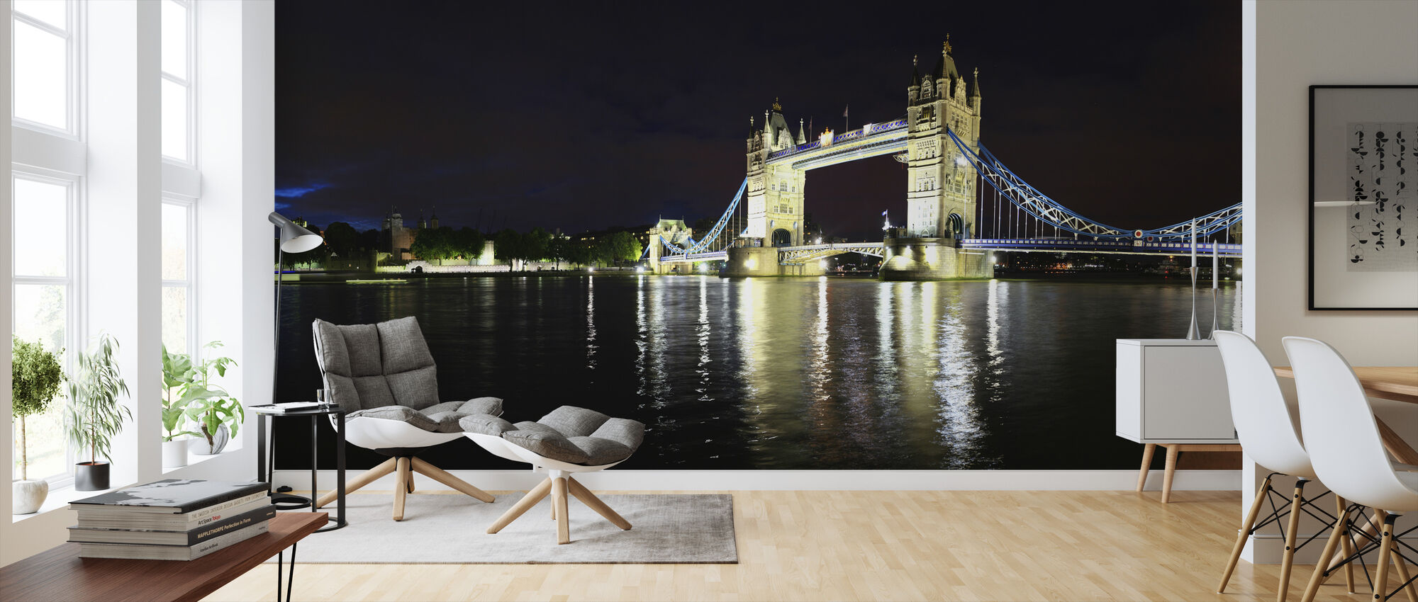 London Tower Bridge at Night - Wallpaper - Living Room