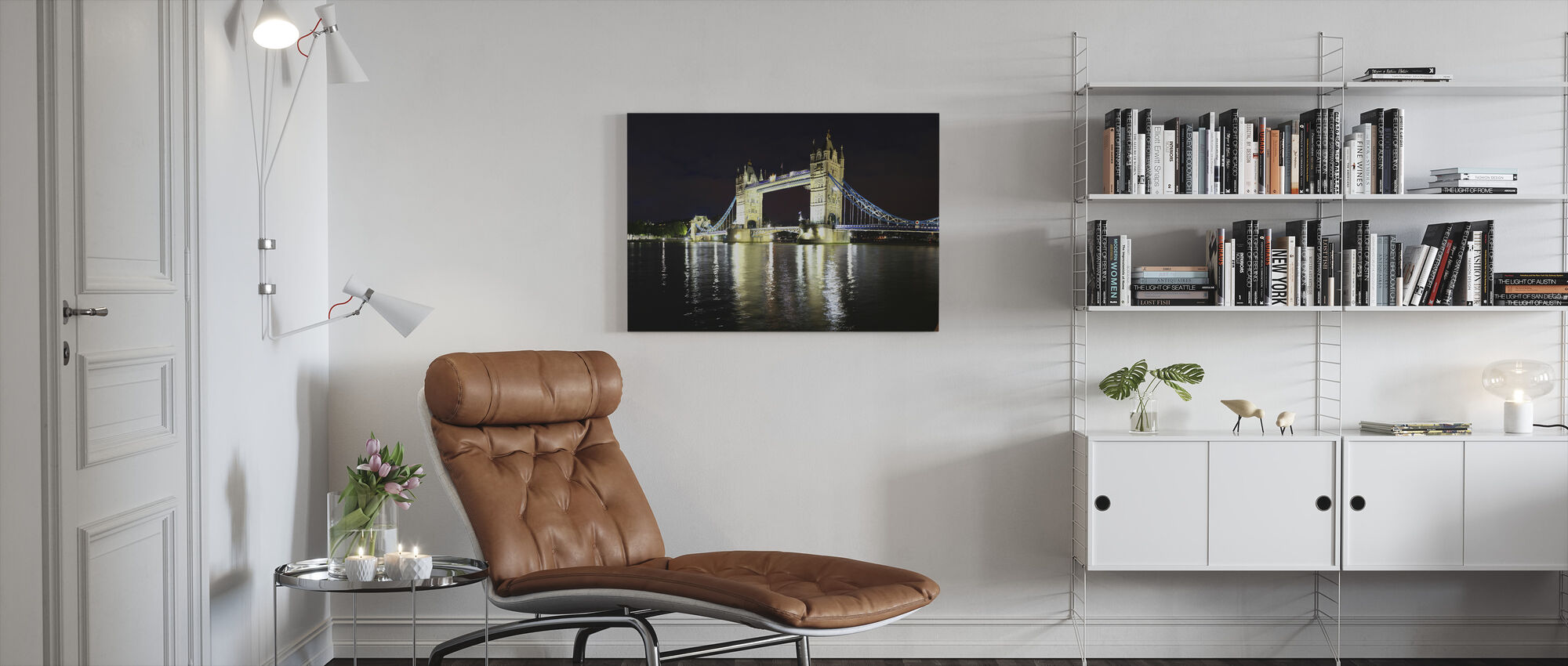 London Tower Bridge at Night - Canvas print - Living Room