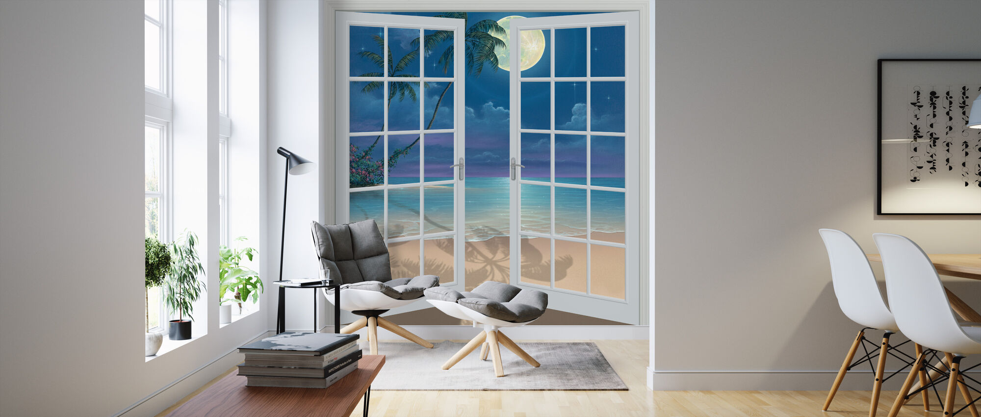 Månen skuggor - Tapet - Vardagsrum