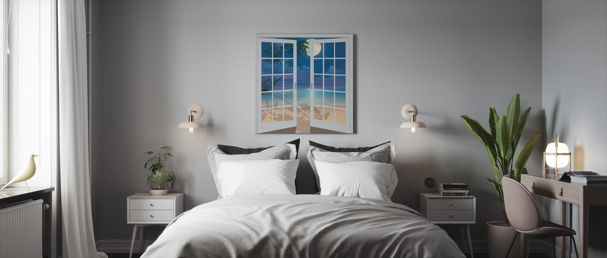 Månen skuggor - Canvastavla - Sovrum