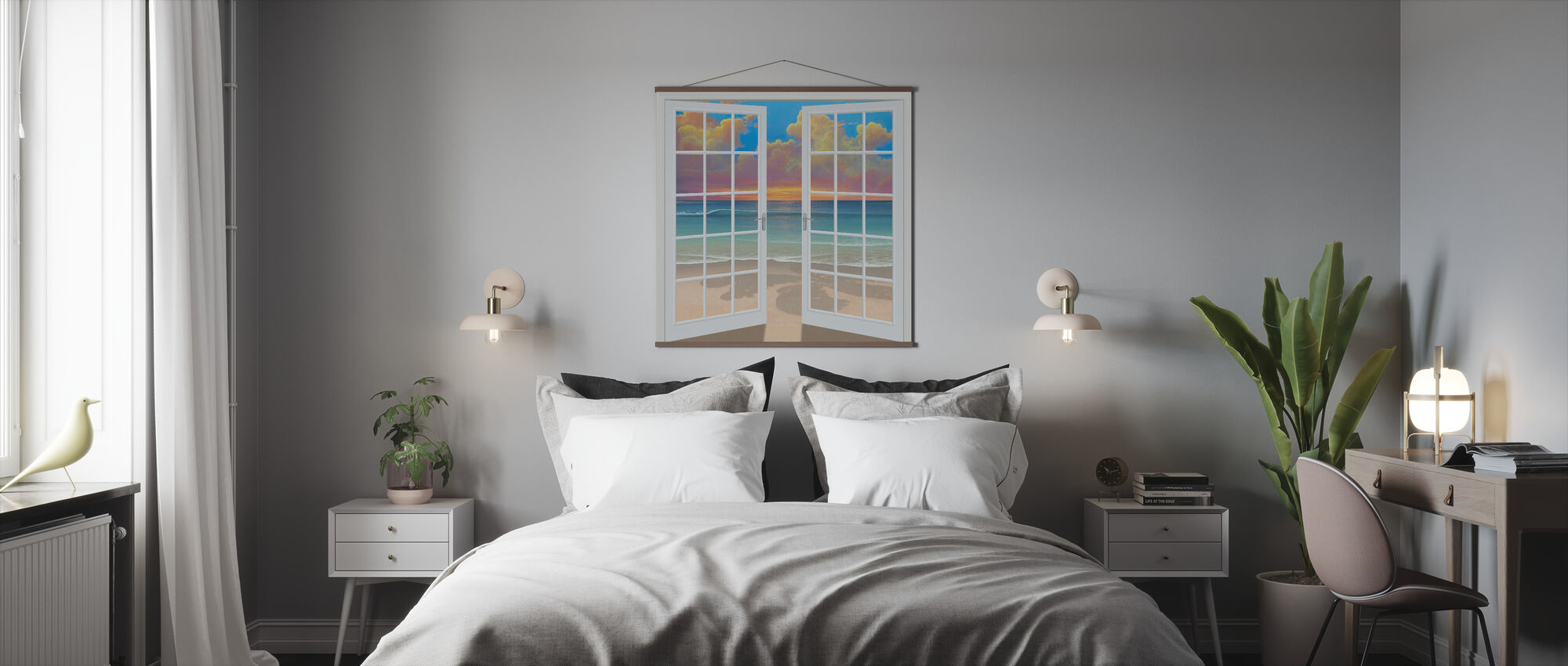 Sunset Through Window - Poster - Bedroom