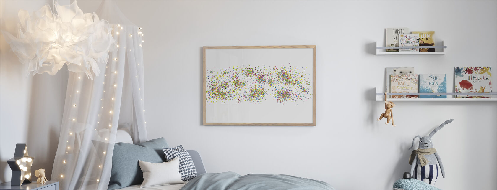 Variegated Dots - Framed print - Kids Room