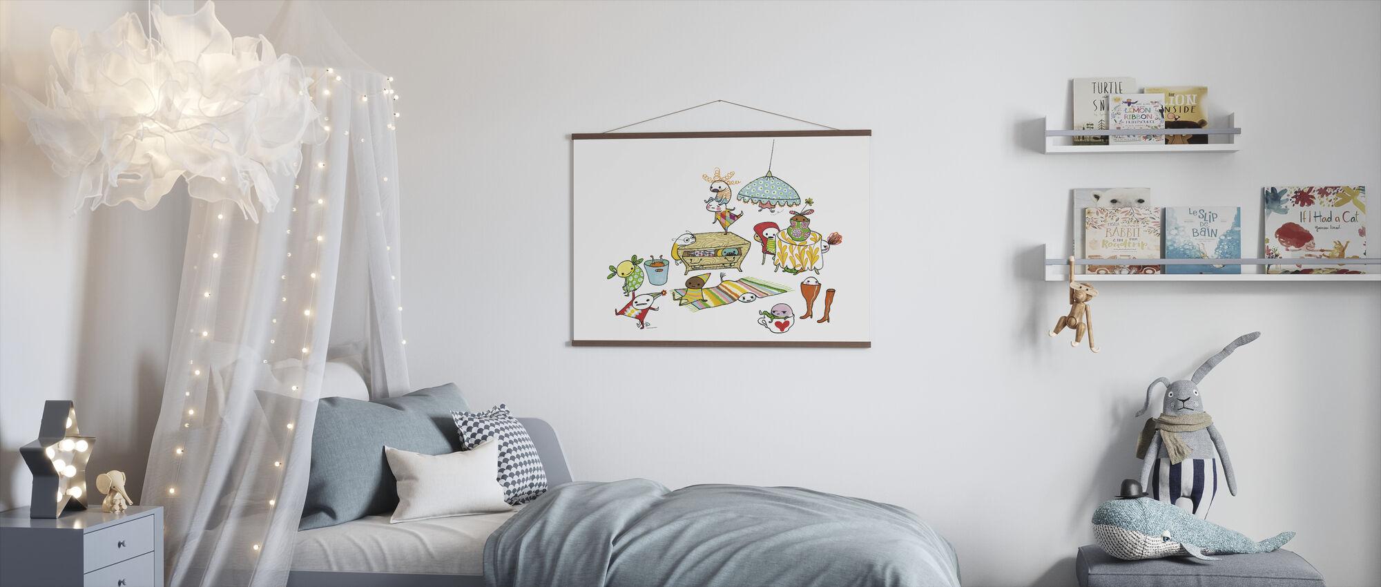 Motley Bus - Poster - Kids Room